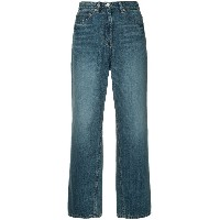 System wide leg straight jeans - ブルー