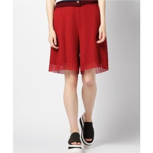 【SALE 40%OFF】ワッシャー加工キュロットパンツ RED1