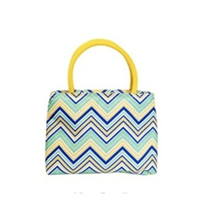 The Cool Sack p2005Insulated Lunch Totesのファスナー、yellow-multi Chevrons、、イエロー