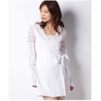 【SALE 30%OFF】actuelselect 【THE FIFTH】RIVERINE WRAP DRESS(オフホワイト)【返品不可商品】