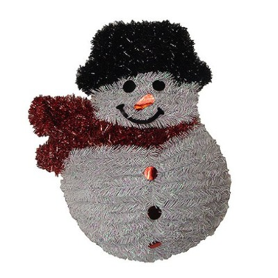 """f.c. Young Shiny and Iridescent Smiling Snowman Hangingクリスマス装飾、19"""""""