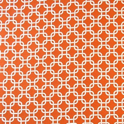 SheetWorld Fitted Square Playard Sheet 37.5 x 37.5 (Fits Joovy) - Orange Links - Made In USA by sheetworld