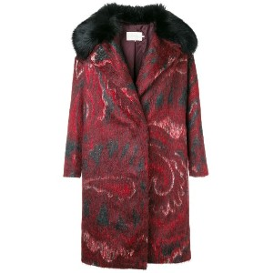L'Autre Chose loose fitted coat - レッド