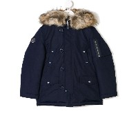 Ralph Lauren Kids hooded parka coat - ブルー