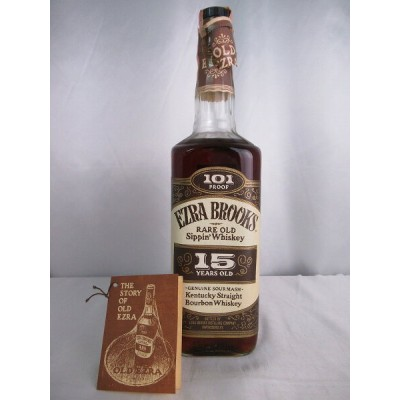 EZRA BROOKS RARE OLD Sippin' Whiskey 15 YEARS OLD 101 PROOF エズラ ブルックス レア オールド シッピン ウィスキー 15年 101...