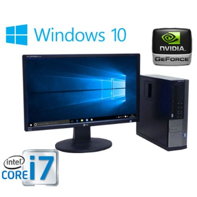 22型液晶 ディスプレイ DELL 7010SF Core i7 3770 3.4GHz メモリ8GB HDD500GB DVDマルチ GeforceGT1030 HDMI Windows10...