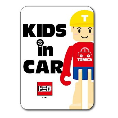 LCS-648/KIDS IN CAR/Tくん ロゴステッカー キッズインカー 車用ステッカー TOMY TOMICA トミカ タカラトミー 子供 車 安全