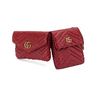 Gucci GG Marmont double belt bag - レッド