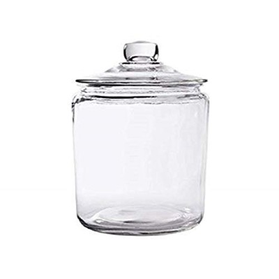 Glass Cookie Candy Penny Jar with Glass Lid, 3.8l Old Fashioned Clear Round Storage Container