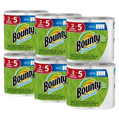 Bounty Quick-Size Paper Towels, 12 Family Rolls, White [並行輸入品]