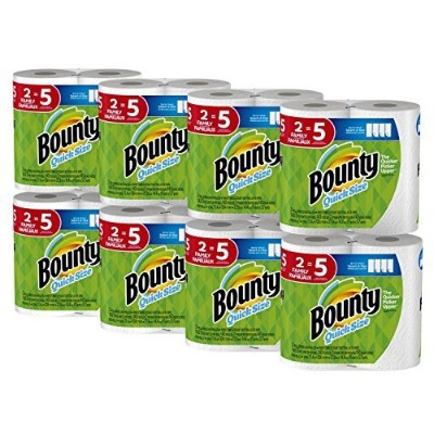 Bounty Quick-Size Paper Towels, 16 Family Rolls, White [並行輸入品]
