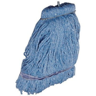 Impact 36116 Layflat Screw-Type Cut-End Blend Wet Mop Head with No-Tangle Band,16 oz,Blue (Case of...