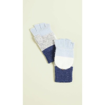 ケイト スペード Kate Spade New York レディース 手袋・グローブ【Brushed Colorblock Pop Top Mittens】Cream/Sky/Grey/Ink