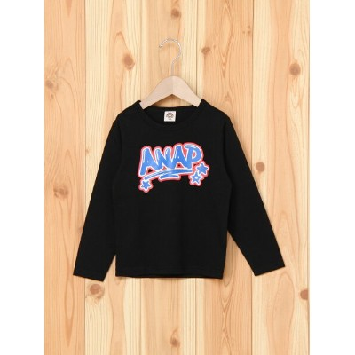 【SALE/10%OFF】ANAP KIDS ANAP KIDSグラフィティプリントロンTee アナップ カットソー【RBA_S】【RBA_E】