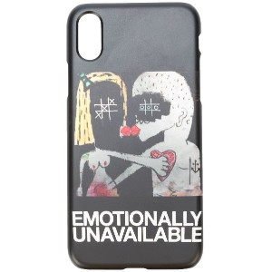 Haculla Emotionally Unavailable Iphone X case - ブラック