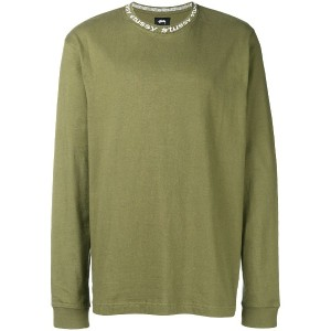 Stussy relaxed long sleeved top - グリーン