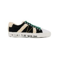 Mira Mikati lace-up fluzzy sneakers - ホワイト