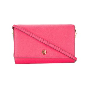 Tory Burch Robinson chain wallet - ピンク
