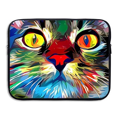 ZMvise Funny Cat Painting Creative Protective Slim Padded Laptop Soft Neoprene Sleeve Bag Case...