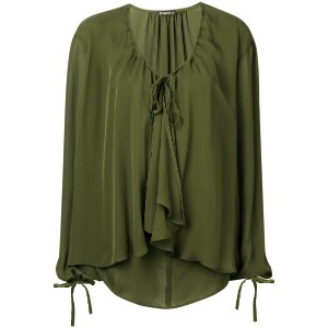 Plein Sud ruffled loose fitted blouse - グリーン