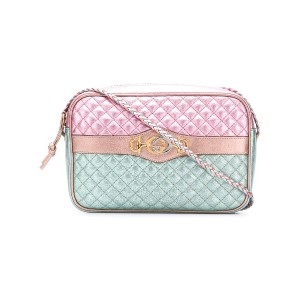 Gucci Laminated leather small shoulder bag - ピンク