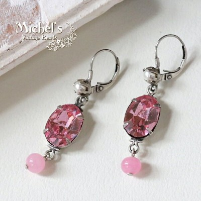 Michel's Vintage Beads Earingヴィンテージビーズピアス/ピンク