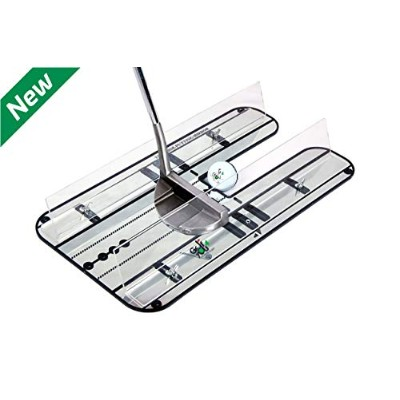 Golf Training Aid - Premium Putting Set - XL Alignment Putting Mirror Design with Our Exclusive...