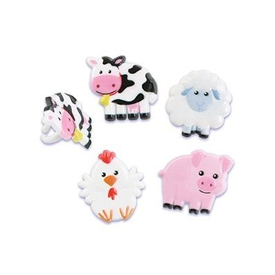 Farm Animal Cupcake Rings - 24 ct by Bakery Supplies