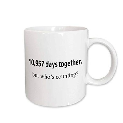 (440ml) - 3dRose 10,957 Days Together But Who's Counting Happy 30th Anniversary Ceramic Mug, 440ml
