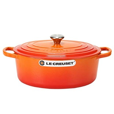 Le Creuset [ ル・クルーゼ ] SIGNATURE シグニチャー Cocotte Ovale 27 cm ココットオーバル Orange オレンジ 両手鍋 新生活 [並行輸入品]