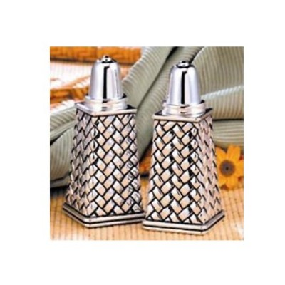 Weave Salt and Pepper Shakers By Godinger