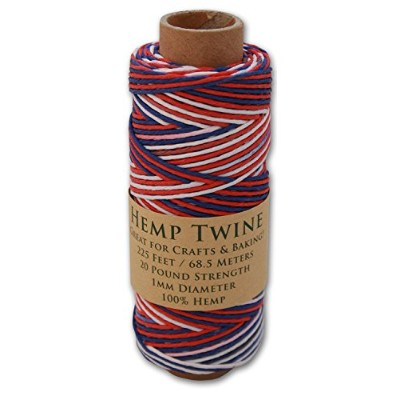 (USA) - 70m Spool of 1mm 100% Hemp Twine Bead Cord In Your Choice of Colour (USA)