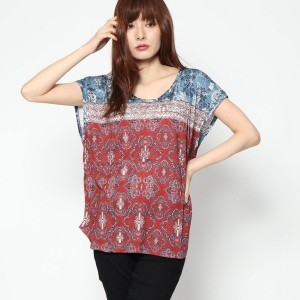 【SALE 60%OFF】デシグアル Desigual WOMAN KNIT T-SHIRT SHORT SLEEVE (3145)