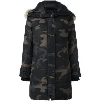 Canada Goose camouflage print padded coat - ブラック