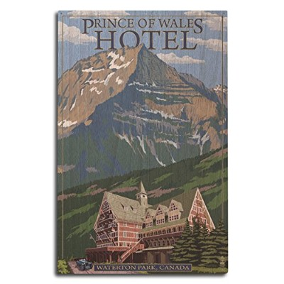 Waterton Lakes National Park , Canada–Prince Of Walesホテル 10 x 15 Wood Sign LANT-41073-10x15W