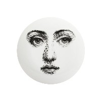 Fornasetti グラフィック プリント 皿 - ホワイト