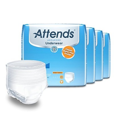 Attends Incontinence Care Underwear for Adults, Super Plus, XL, 14 Count by Attends