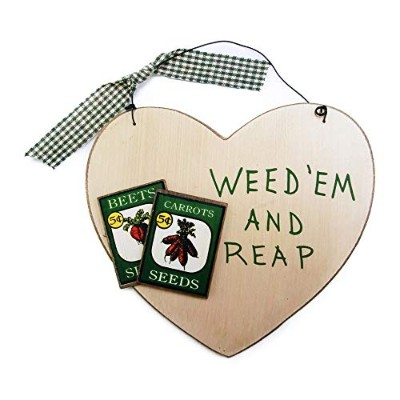 Ohio WEED'EM AND REAP ウォール プラーク ハート ガーデニング