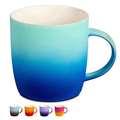 BEGONDIS Coffee Mug Ceramic Gradient Ombré Color Elegant Matte Tea Cup Perfect Gift For Family and...