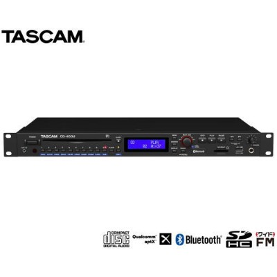 TASCAM Bluetooth®/AM・FMチューナー搭載CD/SD/USBプレーヤー CD-400U