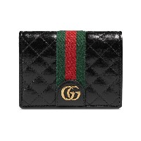 Gucci Leather card case with Double G - ブラック