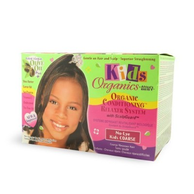 AFRICA'S BEST Kids Organics No-Lye Conditioning Relaxer System with ScalpGuard for Coarse/Resistant...