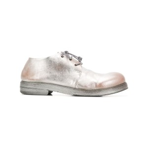Marsèll faded lace-up shoes - シルバー