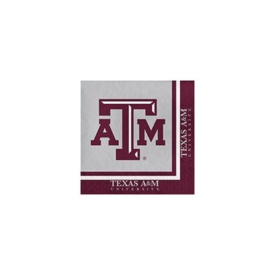 クラブパックの240 NCAA Texas A & M Aggies 2-ply Tailgating Party Lunch Napkins
