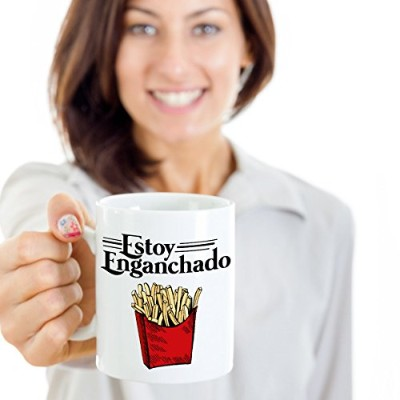 Estoy Enganchado French Friesメキシコスタイルコーヒー&ティーギフトMug Cup For Spanish Speakingメンズ&レディースwith Hispanic文化