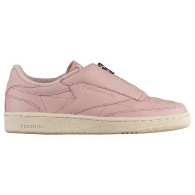 (取寄)リーボック レディース クラブ C 85 ジップ Reebok Women's Club C 85 Zip Shell Pink Paper White Metallic Silver...