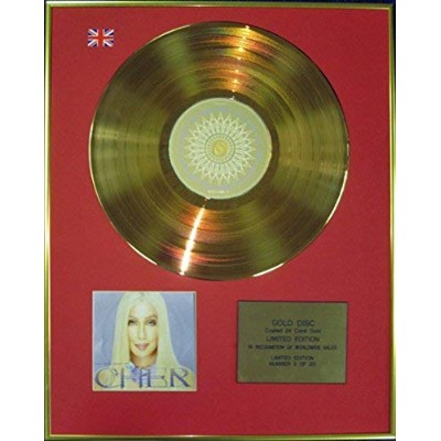 CHER - Ltd Edition CD 24 Carat Coated Gold Disc - VERY BEST OF CHER