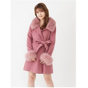 【SALE 50%OFF】CECIL McBEE Many Way ウールコート(ピンク)【返品不可商品】