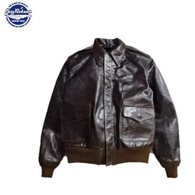 "Buzz Rickson's""J.A.DUBOW MFG.CO""後塗りブロンコハイドレザーTYPE A-2 Order No.W535 A.C.27798 CHEVRON ZIPPER..."