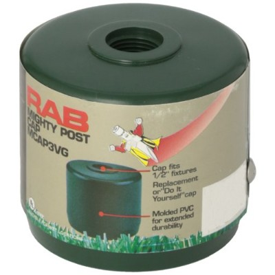 RAB Lighting MCAP3VG Mighty Post Cap for 3 Pipe, 2-7/8 OD, Verde Green by RAB Lighting